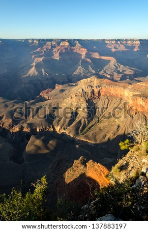 sunset at Mother point in the Grand Canyon in Arizona