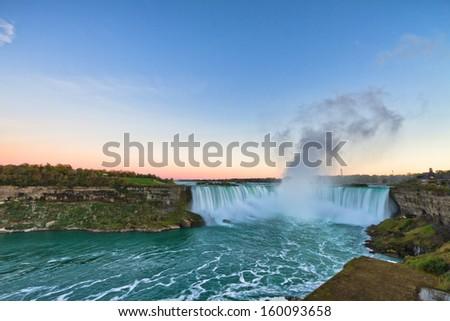 Sunset at Niagara Falls, Ontario, Canada - stock photo