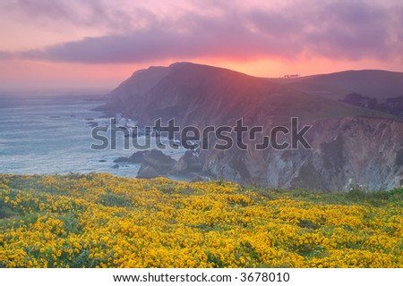 Sunset at Point Reyes - stock photo