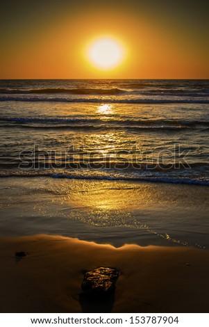 Sunset at Sea - stock photo