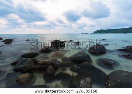 Sunset at Stone Beach - stock photo
