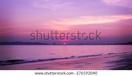 Sunset at suan son beach