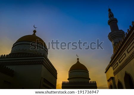 Sunset at the Grand Mosque in the Philippines