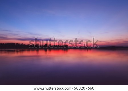 Sunset at the Lake, Murner See, Bavaria