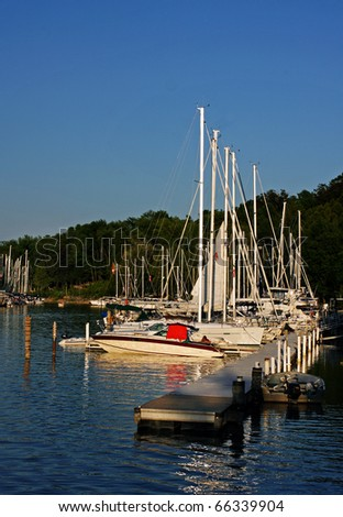 Sunset at the Marina - stock photo