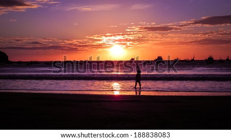 sunset at tropical beach