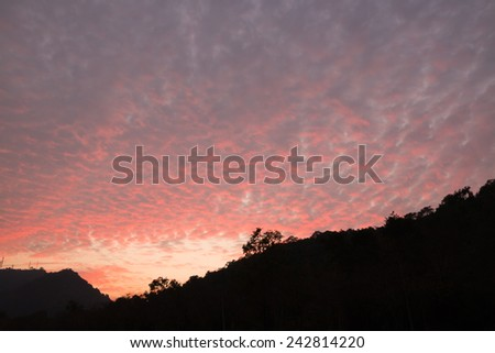Sunset Bang Pra, Chonburi, Thailand. - stock photo