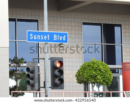 Sunset Boulevard - stock photo