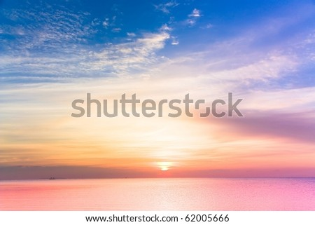 Sunset Burning Down - stock photo
