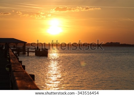 Sunset by Pier