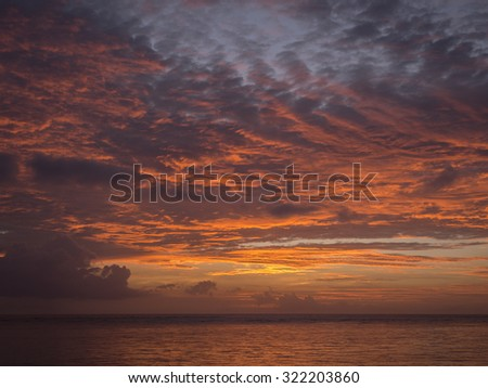 Sunset, Chatan town at Okinawa. - stock photo