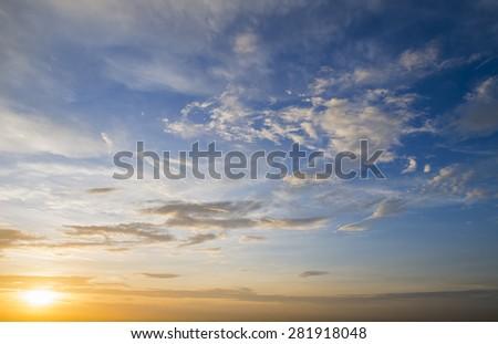 Sunset cloud - stock photo