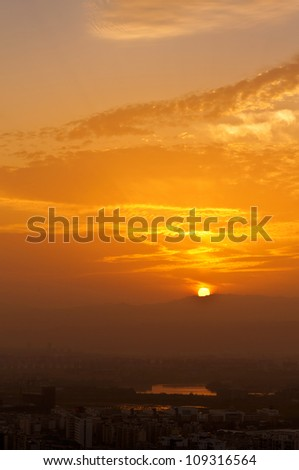 Sunset clouds - stock photo