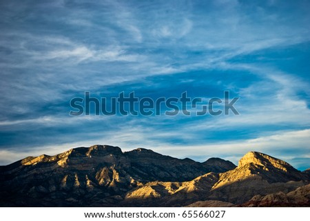 Sunset Clouds At Red Rock Canyon - stock photo