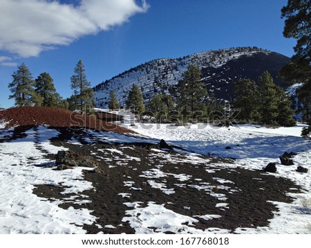 Sunset Crater in Sunset Crater National Monument in Arizona - stock photo