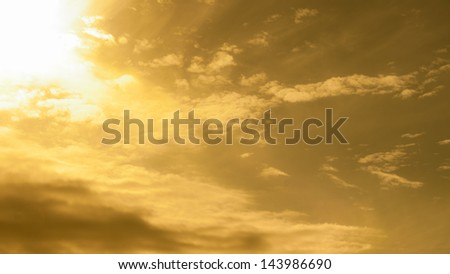 Sunset for Background - stock photo