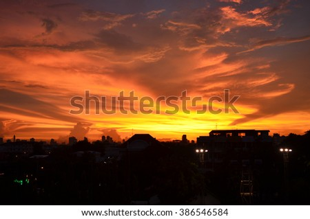 sunset for background