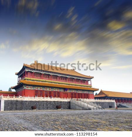 Sunset Forbidden City - stock photo