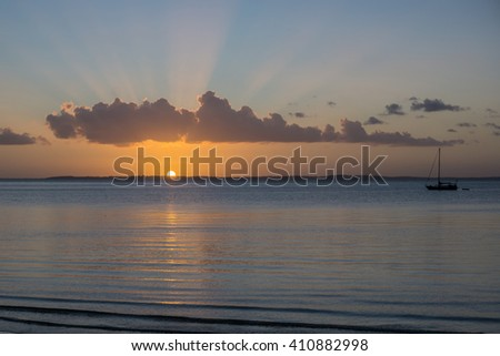 sunset - fraser island, australia - stock photo