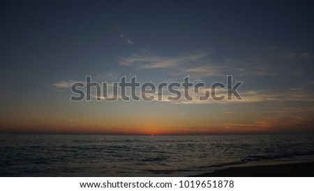 Sunset from Alanya beach