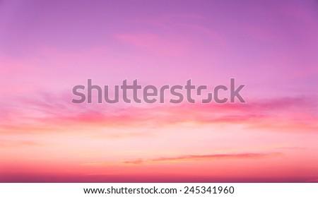 Sunset Glow Evening Scene  - stock photo