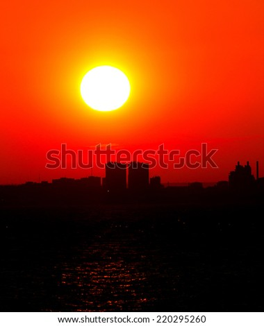 Sunset Gold Beauty  - stock photo