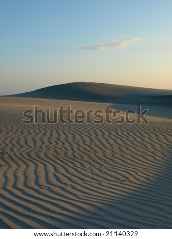 Sunset in a sandy beach in Baja California - Mexico - stock photo