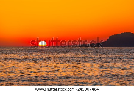 Sunset in Alanya  - stock photo