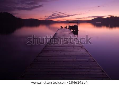 sunset in Algonquin Park - stock photo