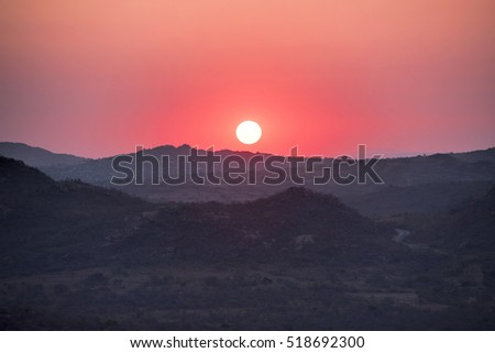 sunset in an African Park