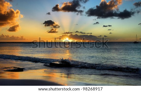 Sunset in Barbados / Sunset Steps