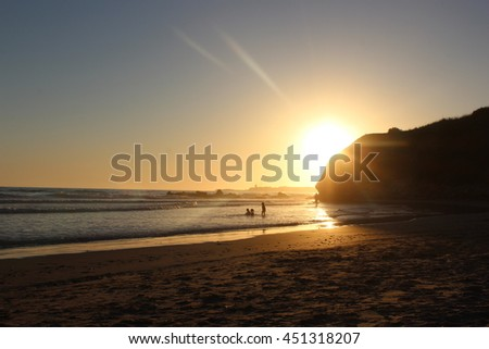 sunset in beach