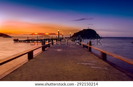 Sunset in Buzios. Rio de Janeiro, Brazil - stock photo