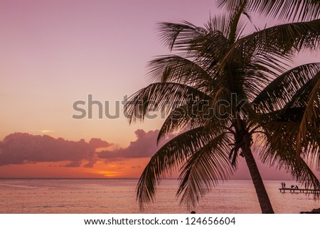 Sunset in Caribbean
