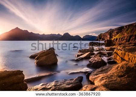 Sunset in Elgol, Isle of Skye