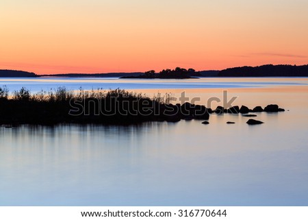 Sunset in Finnish Archipelago