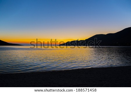 Sunset in Greece - stock photo