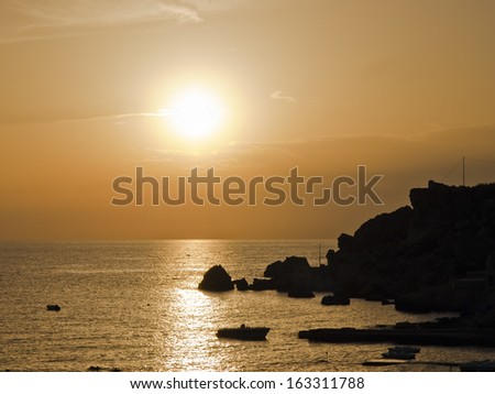 Sunset in Malta - stock photo