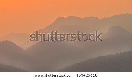 Sunset in Mountain, Southern of Thailand