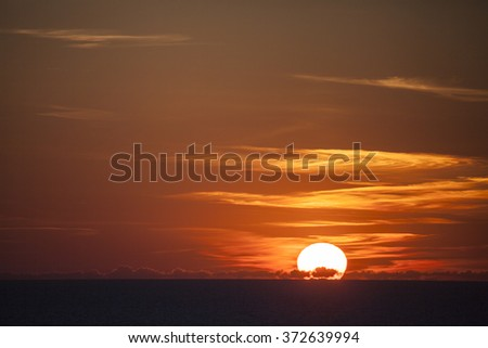 Sunset in nature