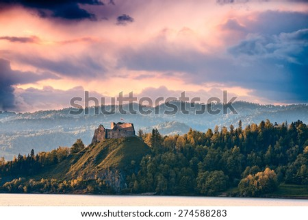 sunset in Pieniny