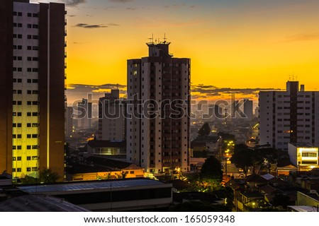 Sunset in Sao Paulo, Brazil - Latin America - stock photo