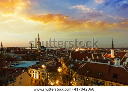 Sunset in Tallinn