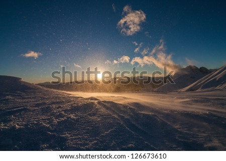 Sunset in the Alps