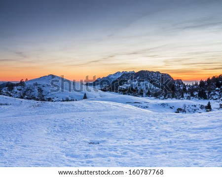 Sunset in the alps 2