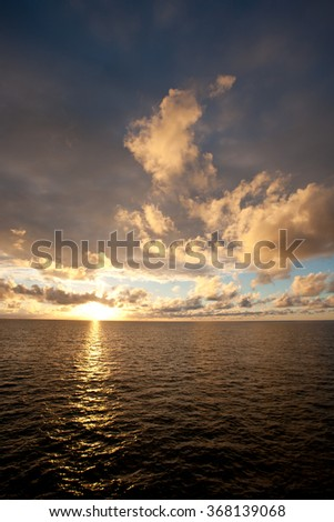 Sunset  in the Lacepedes Islands, Kimberley Coast, Western Australia