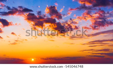 Sunset in the Sky Idyllic Backdrop