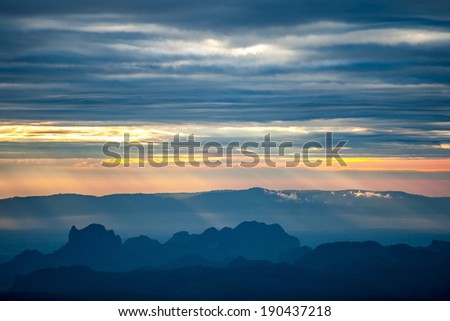 Sunset in Valley View - stock photo