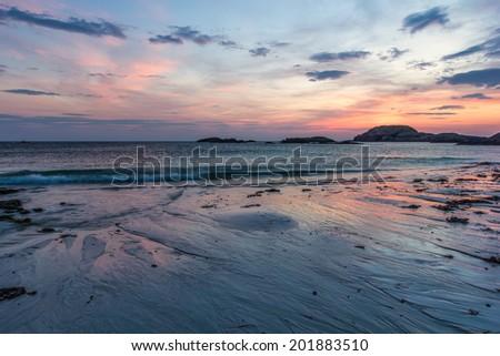 Sunset - Isle of Iona - Inner Hebrides of Scotland - stock photo