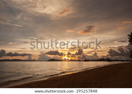 sunset krabi
